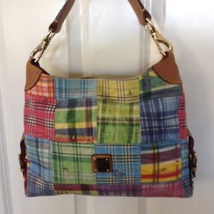 DOONEY & BOURKE MADRAS PLAID SHOULDER BAG